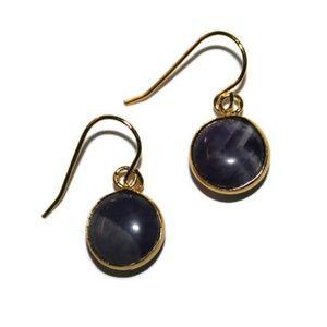 Natural Amethyst Dainty Earrings for Women